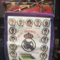 Collectionnisme sportif: BANDERÍN REAL MADRID C.F. AÑO TEMPORADA : 1987/88. CAMPEÓN DE LIGA 42X33. Lote 175652722