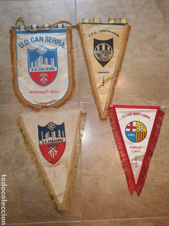 LOTE BANDERINES ANTIGUOS FUTBOL (Coleccionismo Deportivo - Banderas y Banderines de Fútbol)