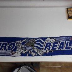 Coleccionismo deportivo: BUFANDA FUTBOL EURO REAL SOCIEDAD. Lote 176678663