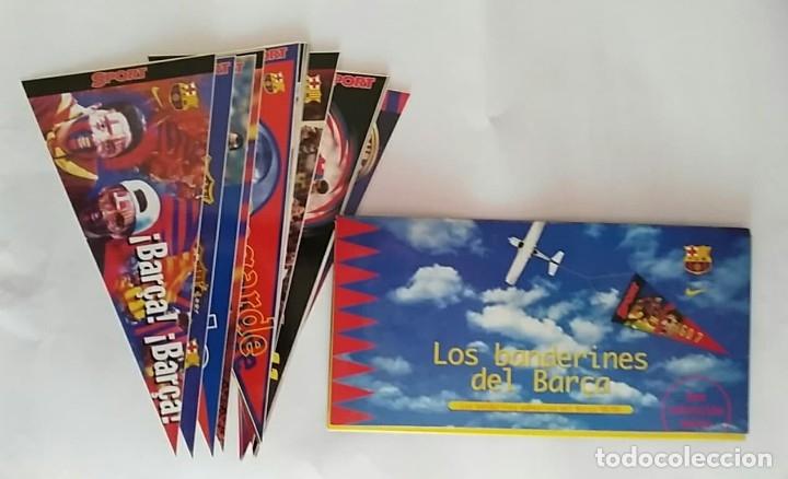 COLECCION UNICA 25 LOS BANDERINES DEL BARÇA ADHESIVOS 98/99 SPORT 30 X 15 CM NUNCA PEGADOS (Coleccionismo Deportivo - Banderas y Banderines de Fútbol)