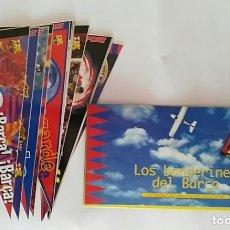 Coleccionismo deportivo: COLECCION UNICA 25 LOS BANDERINES DEL BARÇA ADHESIVOS 98/99 SPORT 30 X 15 CM NUNCA PEGADOS. Lote 177575765