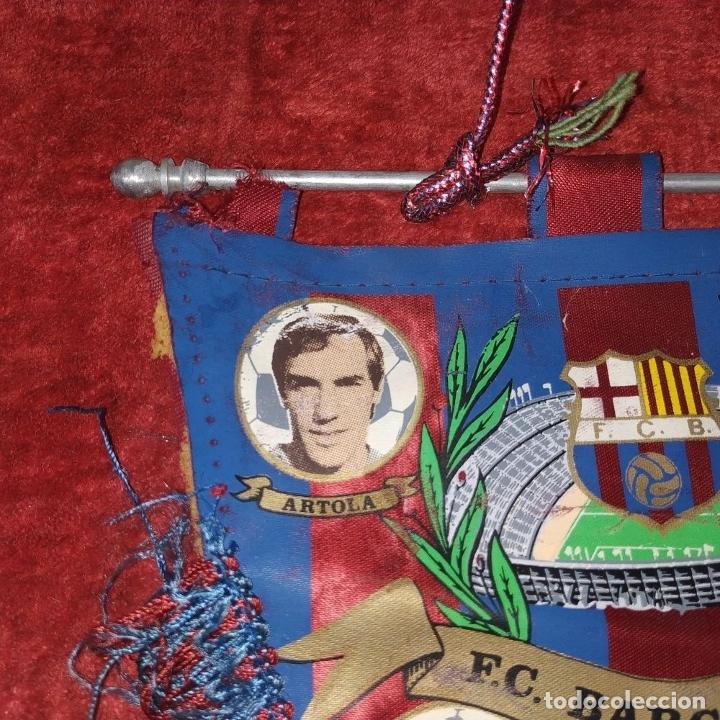 Coleccionismo deportivo: BANDERÍN. BARÇA. ARTOLA Y AMADOR. SEDA SINTÉTICA. ESPAÑA. SIGLO XX - Foto 2 - 178003537