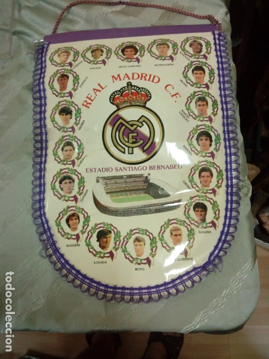BANDERÍN R MADRID 45 CM (Coleccionismo Deportivo - Banderas y Banderines de Fútbol)