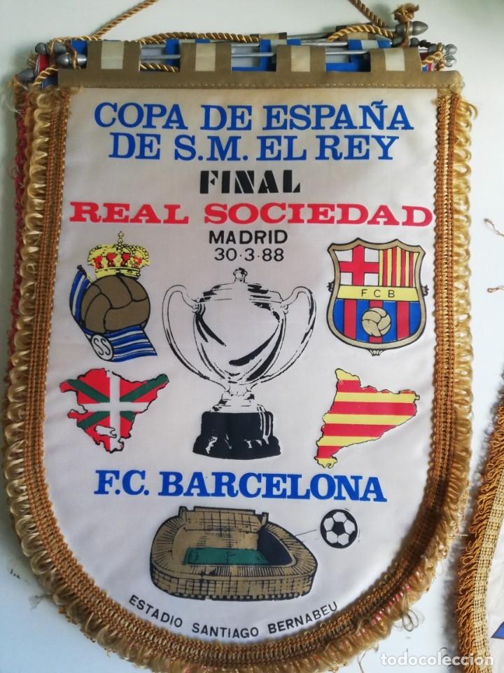 BANDERIN FINAL COPA DEL REY 88 FC BARCELONA REAL SOCIEDAD (Coleccionismo Deportivo - Banderas y Banderines de Fútbol)