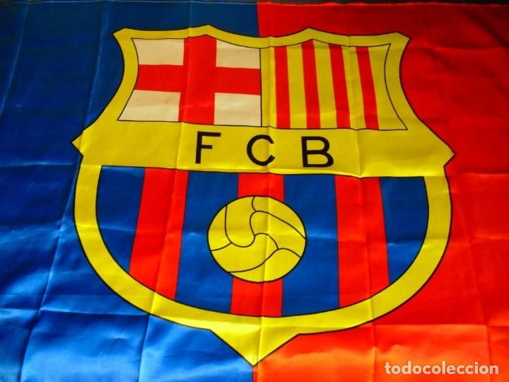 BANDERA FC BARCELONA (Coleccionismo Deportivo - Banderas y Banderines de Fútbol)