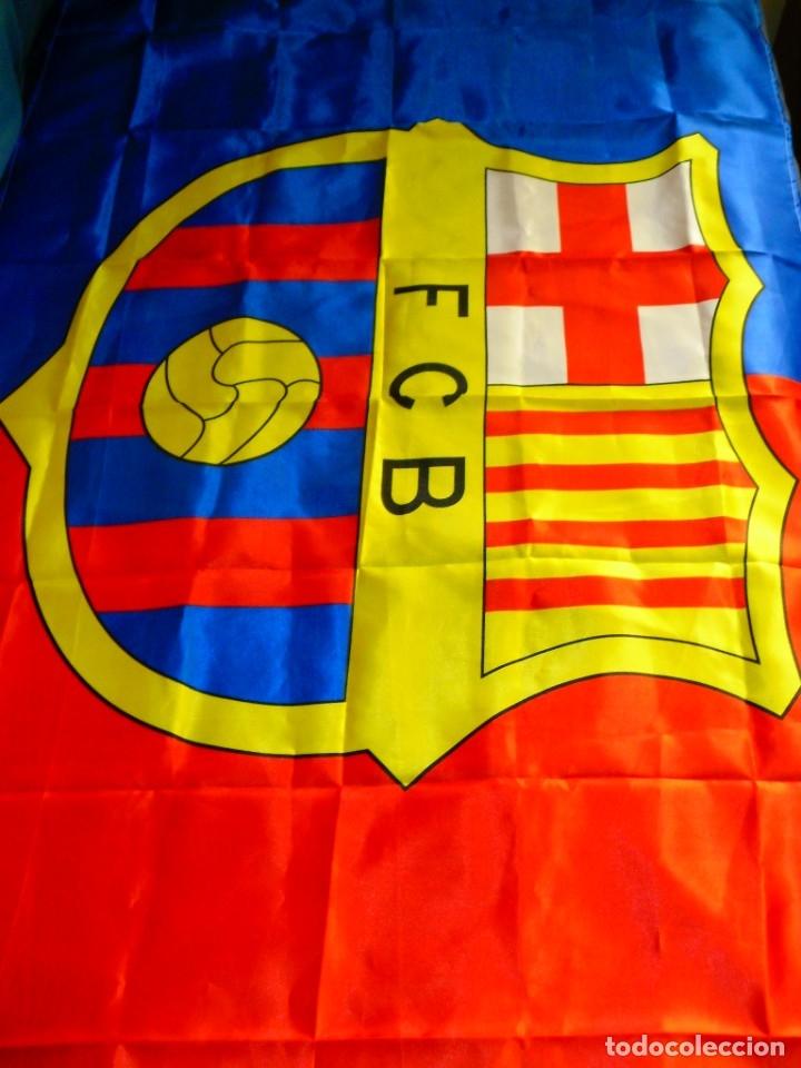 Coleccionismo deportivo: Bandera FC Barcelona - Foto 3 - 179960132