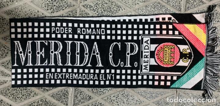 Coleccionismo deportivo: Bufanda Merida C.P. - Foto 2 - 179962395