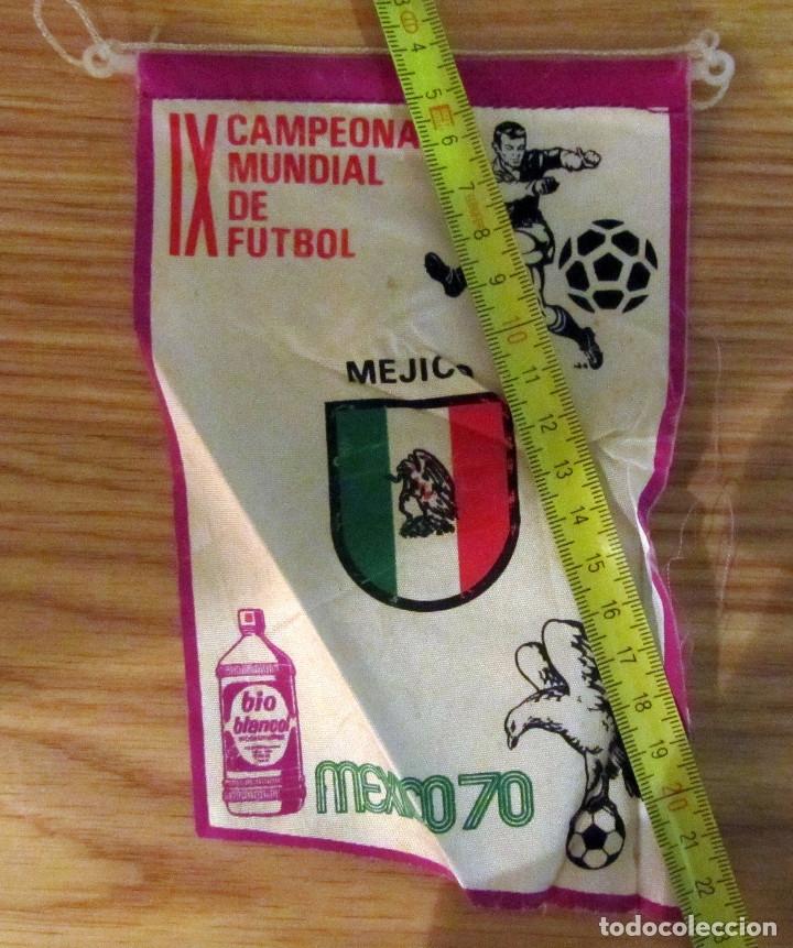 BANDERIN FUTBOL PENNANT FOOTBAL IX CAMPEONATO MUNDIAL FUTBOL MEXICO 70 BIO BLANCOL (Coleccionismo Deportivo - Banderas y Banderines de Fútbol)