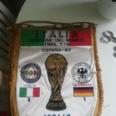 Coleccionismo deportivo: BANDERIN FINAL MUNDIAL 82 ALEMANIA ITALIA . Lote 180307411