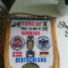 Coleccionismo deportivo: BANDERIN FINAL EUROCOPA 92 ALEMANIA DINAMARCA. Lote 180307721