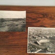 Coleccionismo deportivo: FOTOGRAFÍA PANORÁMICA Y AEREA TAE. EDIFICACIÓN DEL ESTADIO CAMP NOU DEL FÚTBOL CLUB BARCELONA - 1956. Lote 181692286