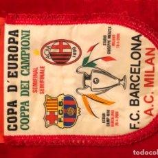 Coleccionismo deportivo: FCBARCELONA BARÇA BANDERIN COPA CHAMPIONS 2006 AC MILAN. Lote 183219116