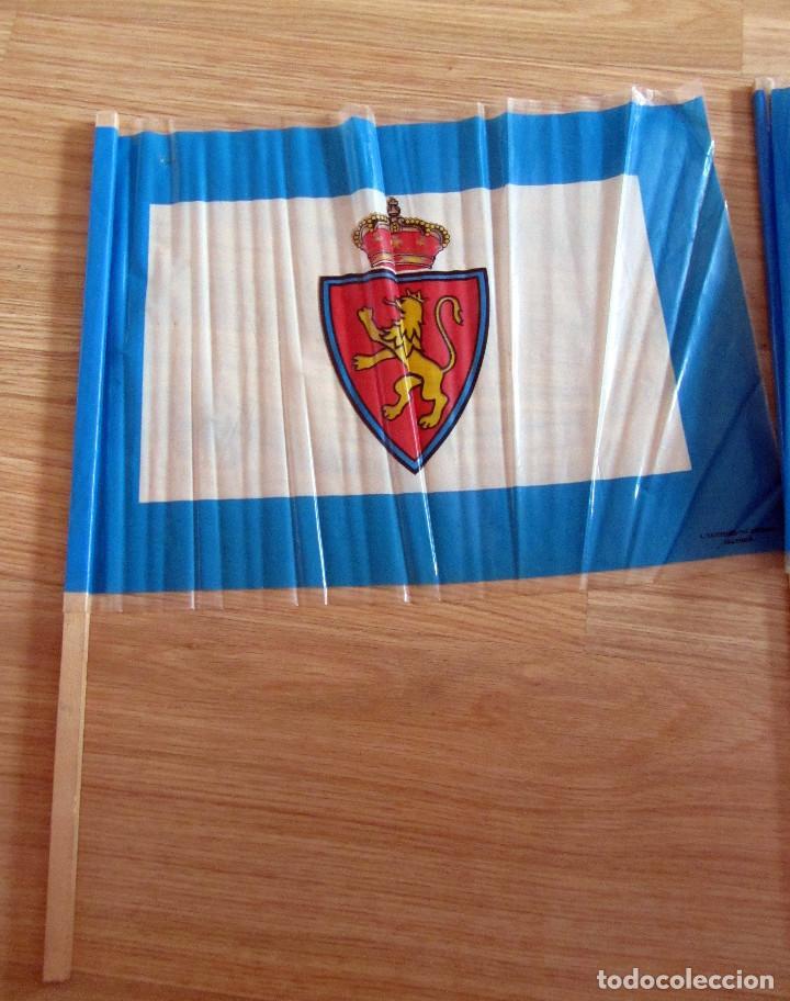 BANDERA FLAG ANTIGUA BANDERA PARTIDO PROMOCION REAL ZARAGOZA MURCIA 1990/91 FUTBOL VINTAGE (Coleccionismo Deportivo - Banderas y Banderines de Fútbol)