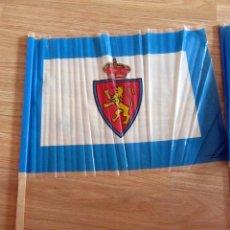 Coleccionismo deportivo: BANDERA FLAG ANTIGUA BANDERA PARTIDO PROMOCION REAL ZARAGOZA MURCIA 1990/91 FUTBOL VINTAGE. Lote 183588905