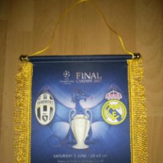 Collezionismo sportivo: BANDERÍN REAL MADRID-JUVENTUS FINAL CHAMPIONS LEAGUE 2017. Lote 224707927