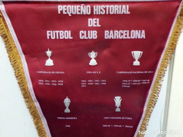 Coleccionismo deportivo: banderin futbol club barcelona - Foto 4 - 183776632