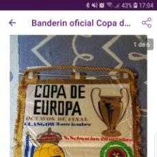 Coleccionismo deportivo: BANDERÍN OFICIAL OCTAVOS DE FINAL DE LA COPA DE EUROPA REAL SOCIEDAD CELTICS DE GLASGOW(1982). Lote 183825628