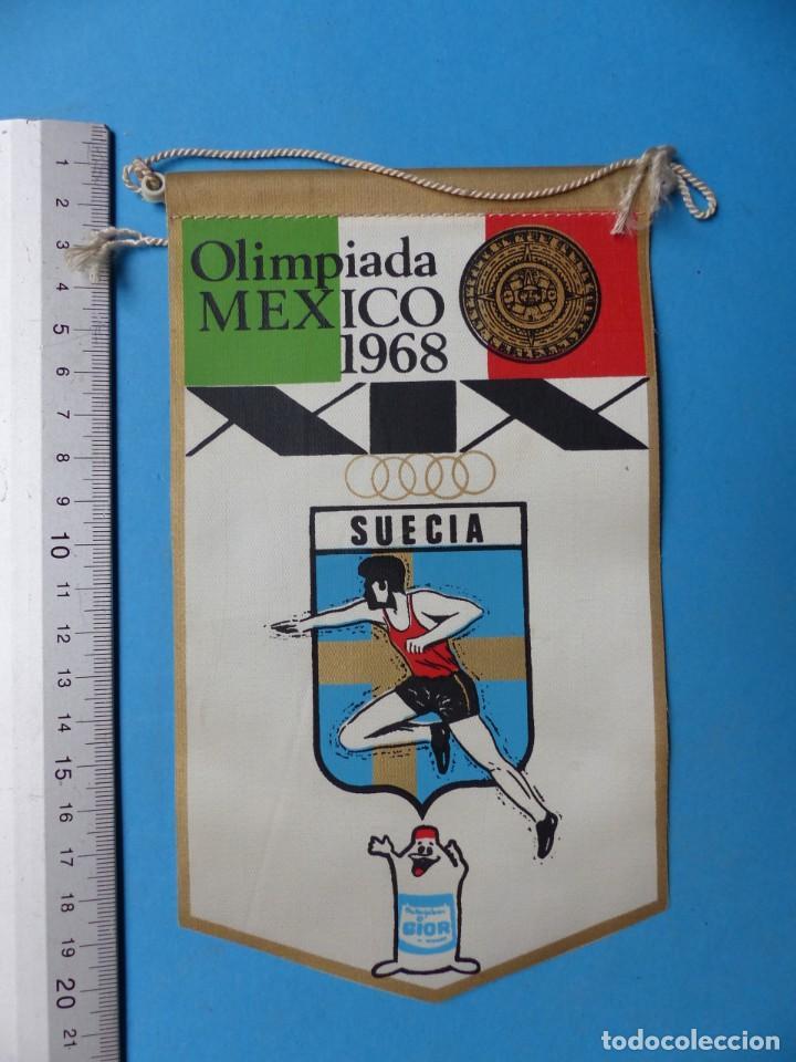 Coleccionismo deportivo: 29 BANDERINES DIFERENTS DE FUTBOL Y OLIMPIADAS - AÑOS 1960-1970 - VER FOTOS ADICIONALES - Foto 13 - 184512881
