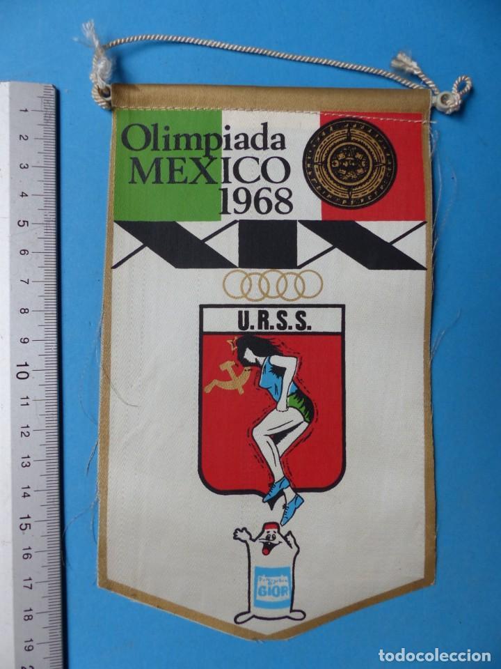 Coleccionismo deportivo: 29 BANDERINES DIFERENTS DE FUTBOL Y OLIMPIADAS - AÑOS 1960-1970 - VER FOTOS ADICIONALES - Foto 14 - 184512881