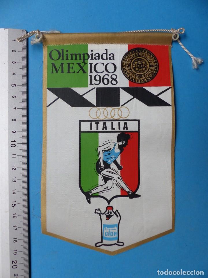 Coleccionismo deportivo: 29 BANDERINES DIFERENTS DE FUTBOL Y OLIMPIADAS - AÑOS 1960-1970 - VER FOTOS ADICIONALES - Foto 16 - 184512881
