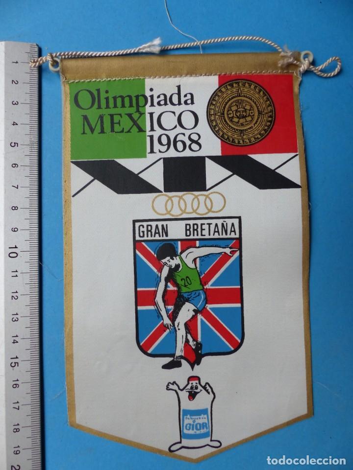 Coleccionismo deportivo: 29 BANDERINES DIFERENTS DE FUTBOL Y OLIMPIADAS - AÑOS 1960-1970 - VER FOTOS ADICIONALES - Foto 18 - 184512881