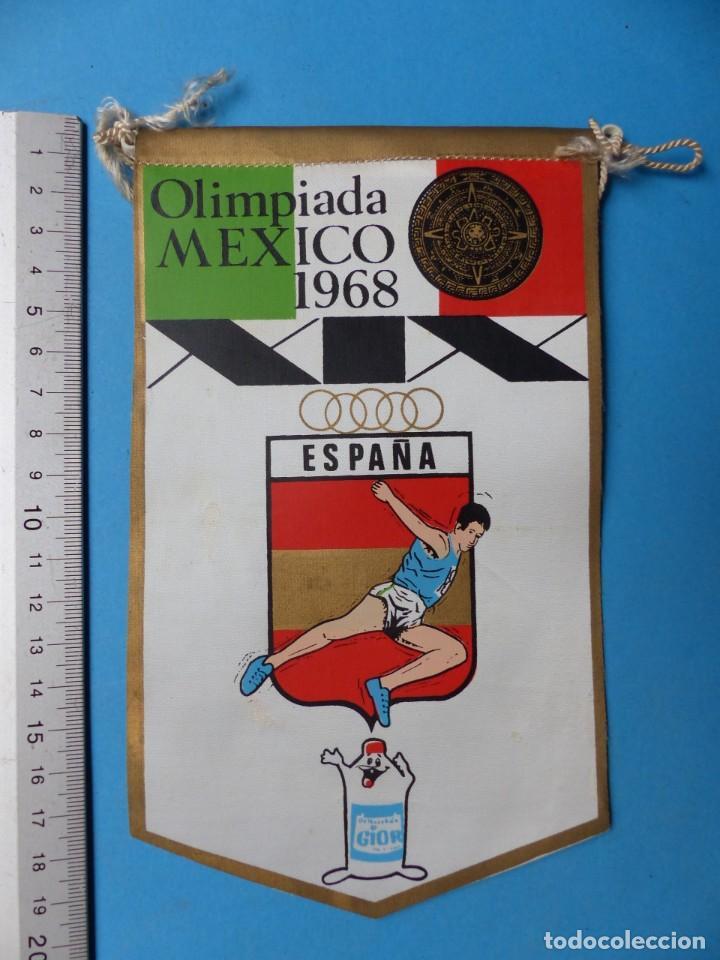 Coleccionismo deportivo: 29 BANDERINES DIFERENTS DE FUTBOL Y OLIMPIADAS - AÑOS 1960-1970 - VER FOTOS ADICIONALES - Foto 22 - 184512881