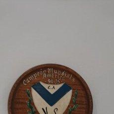 Coleccionismo deportivo: PLATO MADERA CLUB ATLETICO VELEZ SARSFIELD. Lote 185981873