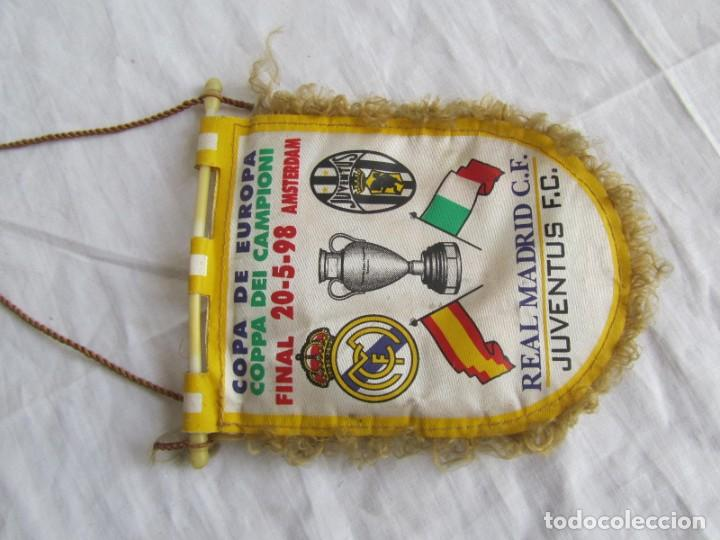 Coleccionismo deportivo: Banderín Real Madrid - Juventus Final Copa de Europa 1998 - Foto 5 - 186059218