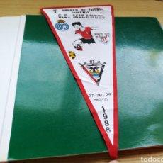 Coleccionismo deportivo: ANTIGUO BANDERÍN I TROFEO JUVENIL CD MIRANDÉS. MAYO 1988. Lote 186141406