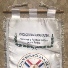 Coleccionismo deportivo: GRAN BANDERIN PENNANT ASOCIACION PARAGUAYA DE FUTBOL A FC BARCELONA BARÇA AMISTOSO PARAGUAY ASUNCION. Lote 189814791