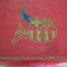 Coleccionismo deportivo: (LLL)BANDERA BARÇA ONDEADA EN PARIS FINAL CHAMPIONS-2006 ARSENAL-F.C.BARCELONA-ORIGINAL-. Lote 189991376