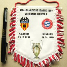 Collectionnisme sportif: BANDERIN VALENCIA CF VS FC BAYERN MUNCHEN UEFA CHAMPIONS LEAGUE 99-00 10X15 PENNANT WIMPEL. Lote 191191370
