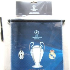 Collectionnisme sportif: BANDERIN REAL MADRID CF VS JUVENTUS TURIN TORINO FINAL CHAMPIONS LEAGUE 2017 OFICIAL 40X32 PENNANT R. Lote 206307563