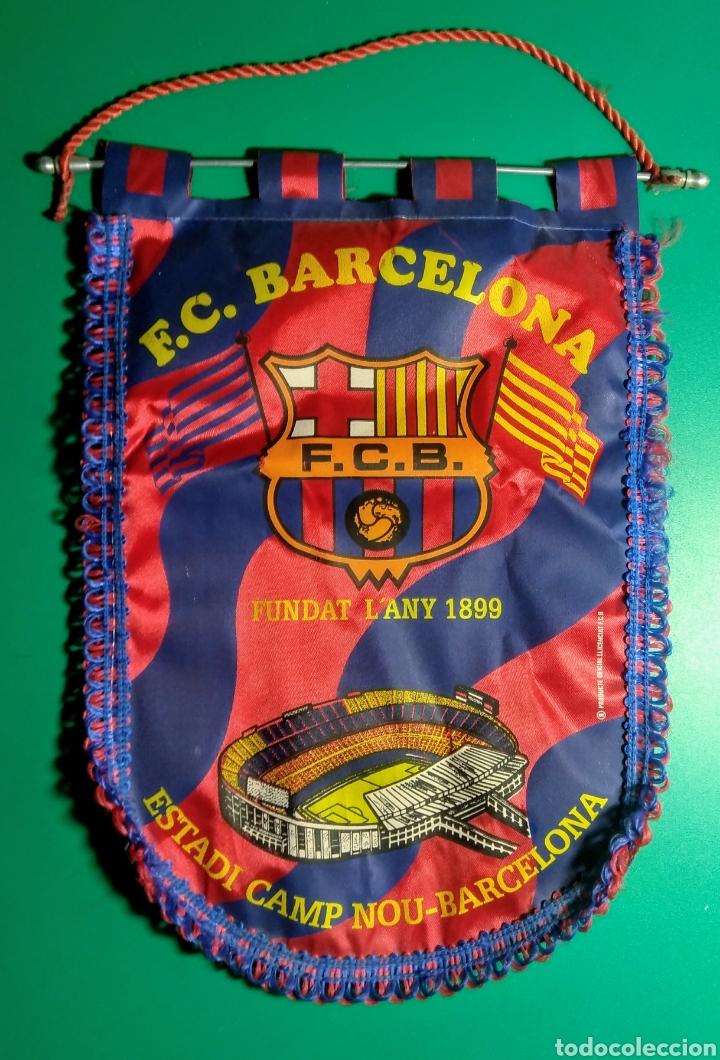 ANTIGUO BANDERÍN F.C.BARCELONA. (Coleccionismo Deportivo - Banderas y Banderines de Fútbol)