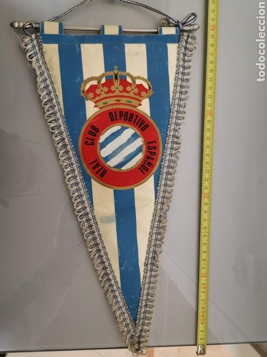 Coleccionismo deportivo: ANTIGUO BANDERIN RCD ESPAÑOL CON Ñ 40X20cm - Foto 3 - 191964481