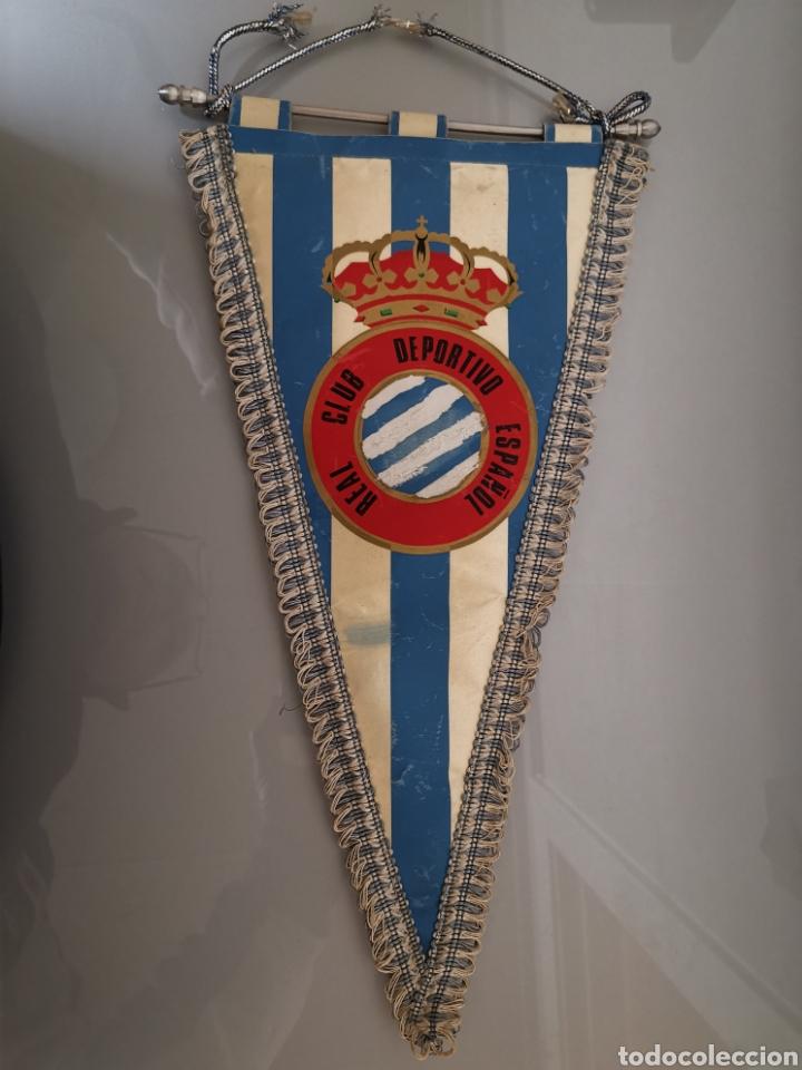 ANTIGUO BANDERIN RCD ESPAÑOL CON Ñ 40X20CM (Coleccionismo Deportivo - Banderas y Banderines de Fútbol)