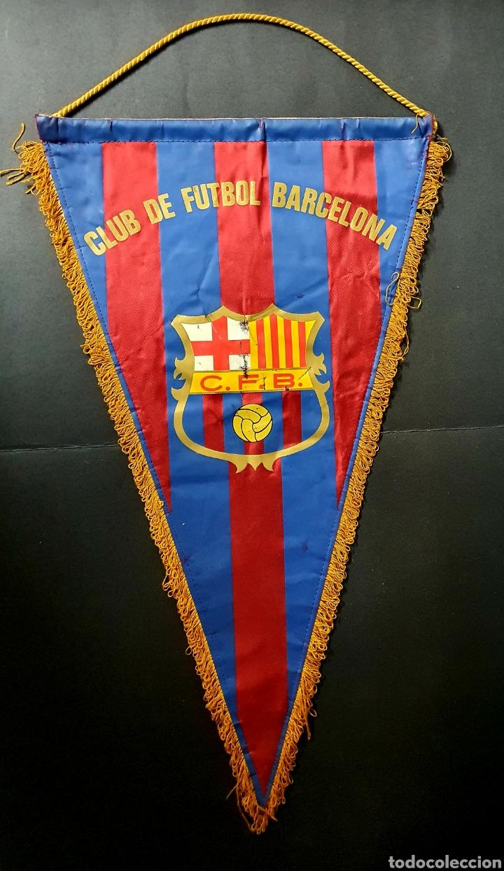 BANDERÍN CLUB DE FUTBOL BARCELONA (Coleccionismo Deportivo - Banderas y Banderines de Fútbol)
