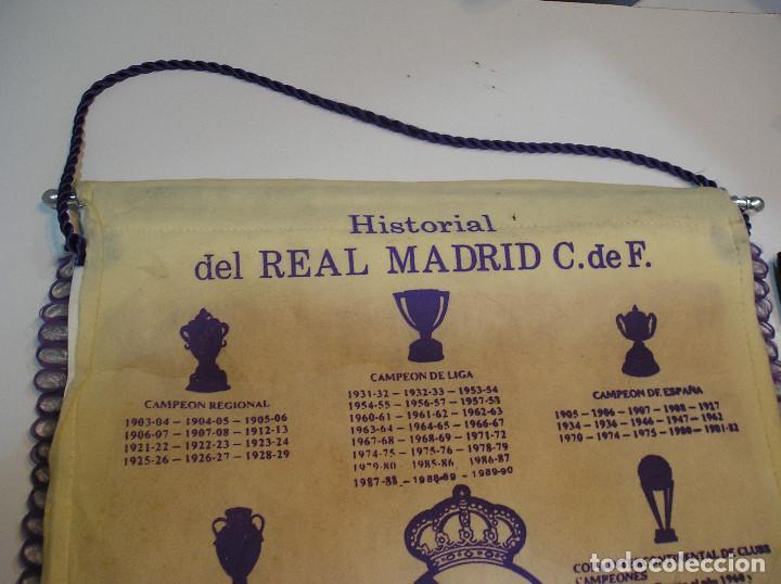 Coleccionismo deportivo: BANDERIN PLASTICO REAL MADRID CAMPEON LIGA 89 90 HISTORIAL DE TROFEOS - Foto 9 - 212088745