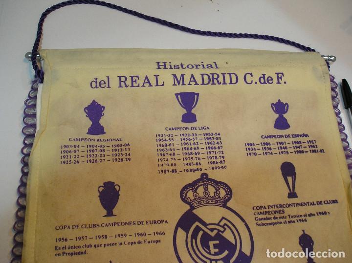 Coleccionismo deportivo: BANDERIN PLASTICO REAL MADRID CAMPEON LIGA 89 90 HISTORIAL DE TROFEOS - Foto 10 - 212088745