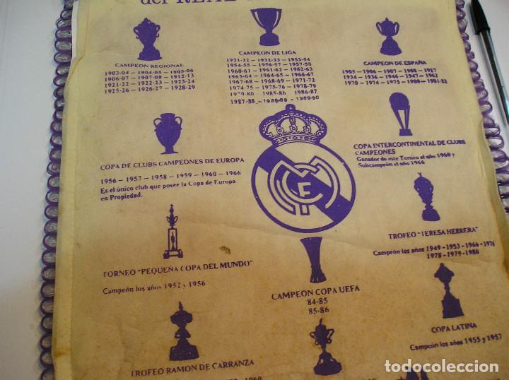 Coleccionismo deportivo: BANDERIN PLASTICO REAL MADRID CAMPEON LIGA 89 90 HISTORIAL DE TROFEOS - Foto 12 - 212088745