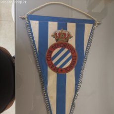 Coleccionismo deportivo: ANTIGUO BANDERIN RCD ESPAÑOL CON Ñ 47X30CM. Lote 192796655