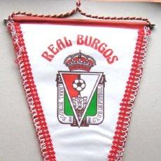 Coleccionismo deportivo: BANDERIN REAL BURGOS CF FUTBOL ANTIGUO NUEVO 48 X 31 CM BIG OLD PENNANT FANION WIMPEL R. Lote 192962860