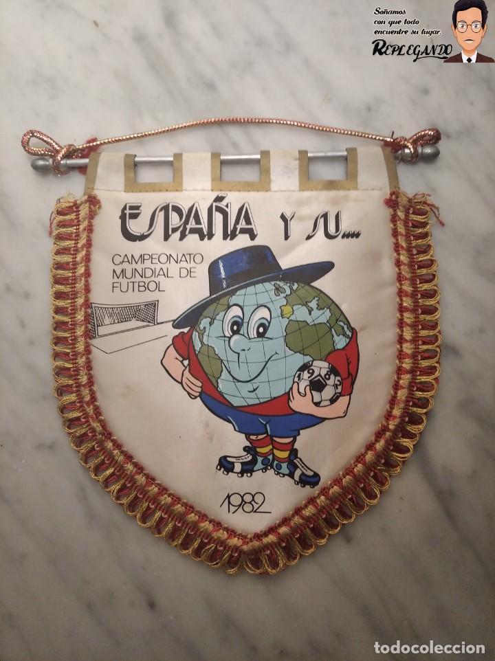 BANDERÍN NARANJITO MUNDIAL DE FÚTBOL ESPAÑA 82 (CIUDADES - SEDES) (Coleccionismo Deportivo - Banderas y Banderines de Fútbol)