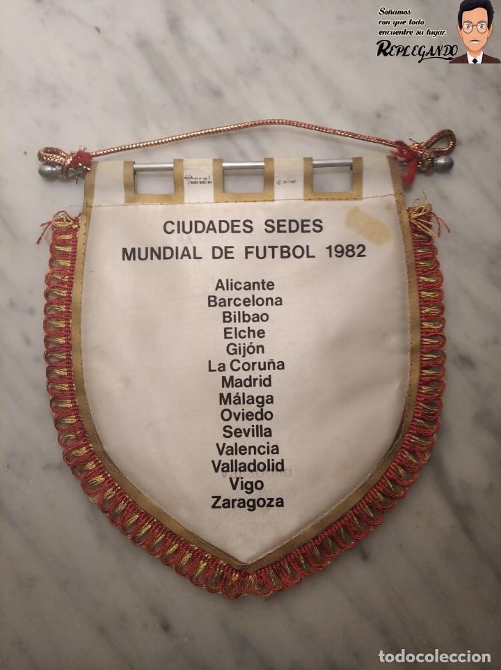 Coleccionismo deportivo: BANDERÍN NARANJITO MUNDIAL DE FÚTBOL ESPAÑA 82 (CIUDADES - SEDES) - Foto 2 - 194572265