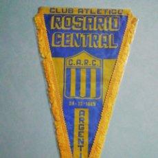 Coleccionismo deportivo: BANDERIN C. A. ROSARIO CENTRAL DE ARGENTINA. Lote 194610716