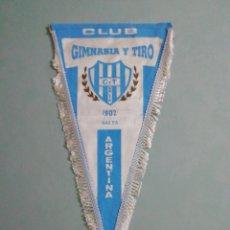 Coleccionismo deportivo: BANDERIN CLUB GIMNASIA Y TIRO DE ARGENTINA. Lote 194611421