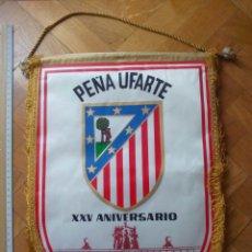 Coleccionismo deportivo: BANDERÍN PEÑA UFARTE ATLÉTICO DE MADRID XXV ANIVERSARIO. Lote 194968490