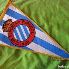 Coleccionismo deportivo: BANDERIN: REAL CLUB DEPORTIVO ESPAÑOL. OBSEQUIO DE CARAMELOS KIKI'S IBERICA. Lote 195052826