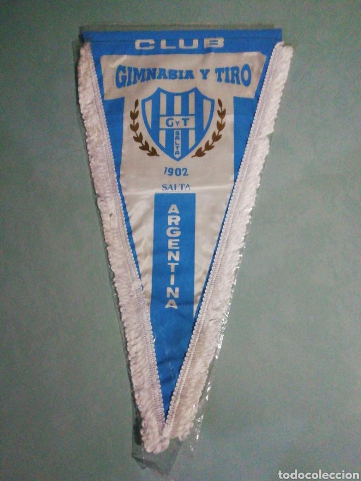 BANDERIN CLUB GIMNASIA Y TIRO DE ARGENTINA (Coleccionismo Deportivo - Banderas y Banderines de Fútbol)