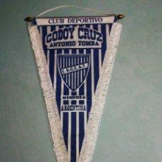 Coleccionismo deportivo: BANDERÍN C. D. GODOY CRUZ DE ARGENTINA. Lote 195328715
